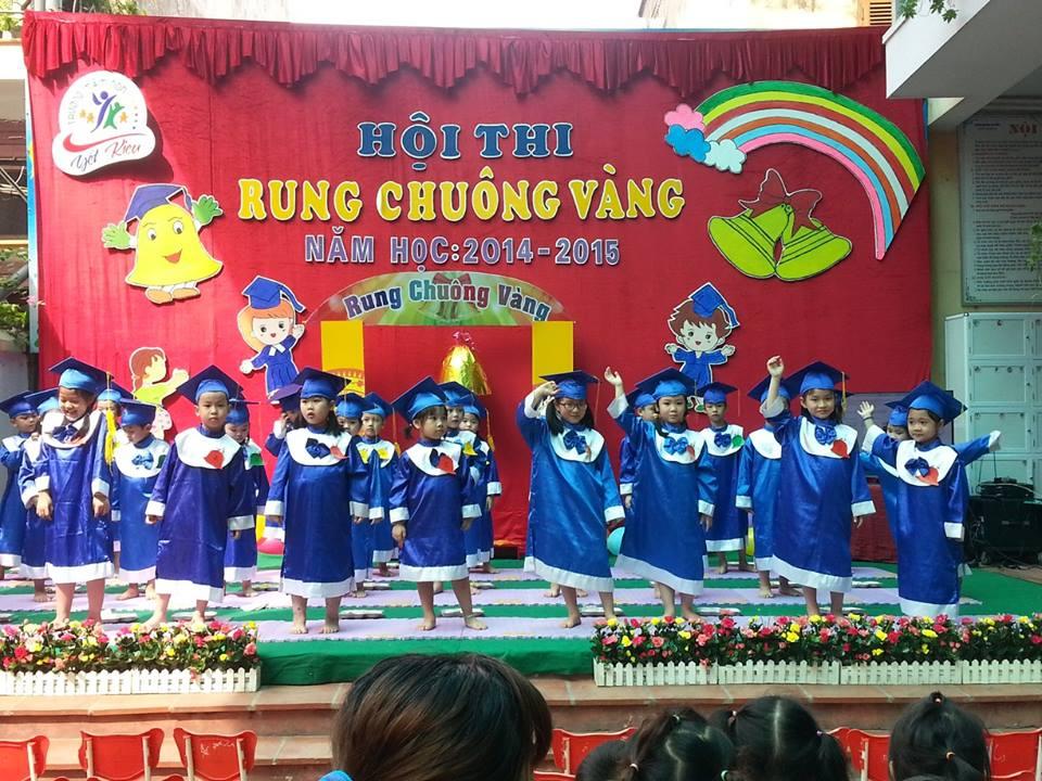"""Tưng bừng Hội thi """"Rung chuông vàng"""" của các bé khối 5 tuổi."""